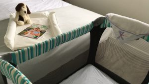 We provide cots and other equipment for babies and toddlers at The Salty Dog