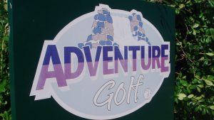Adventure Golf sign in Hastings