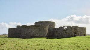 The ruins of Camber Castle, Rye