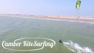 Kite surfer with Camber Kitesurfing at Camber Sands