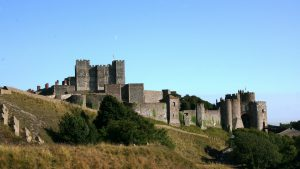 Dover Castle on the cliff tops at Dover, Kent