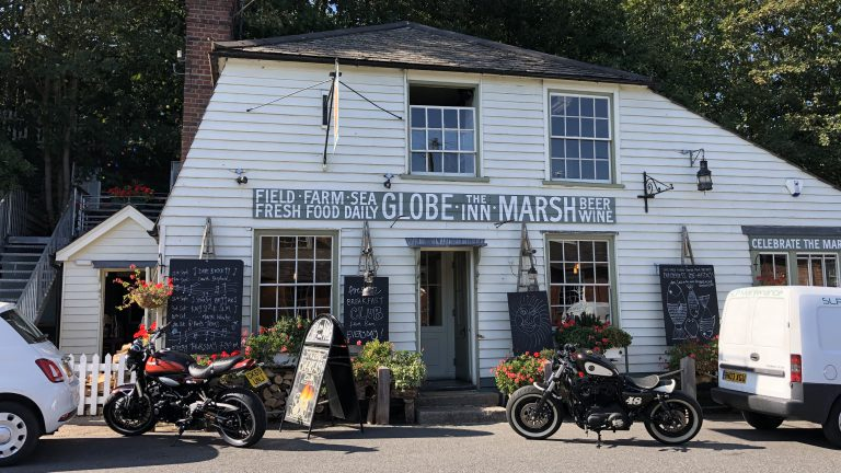 The Globe Inn Marsh one of our favourite places to eat near Camber Sands