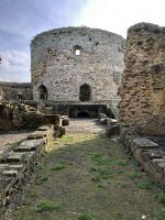 The interior of Camber Castle