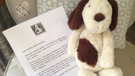 Daisy welcomes children to our family friendly cottages Camber