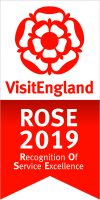We hold a VisitEngland Rose Award